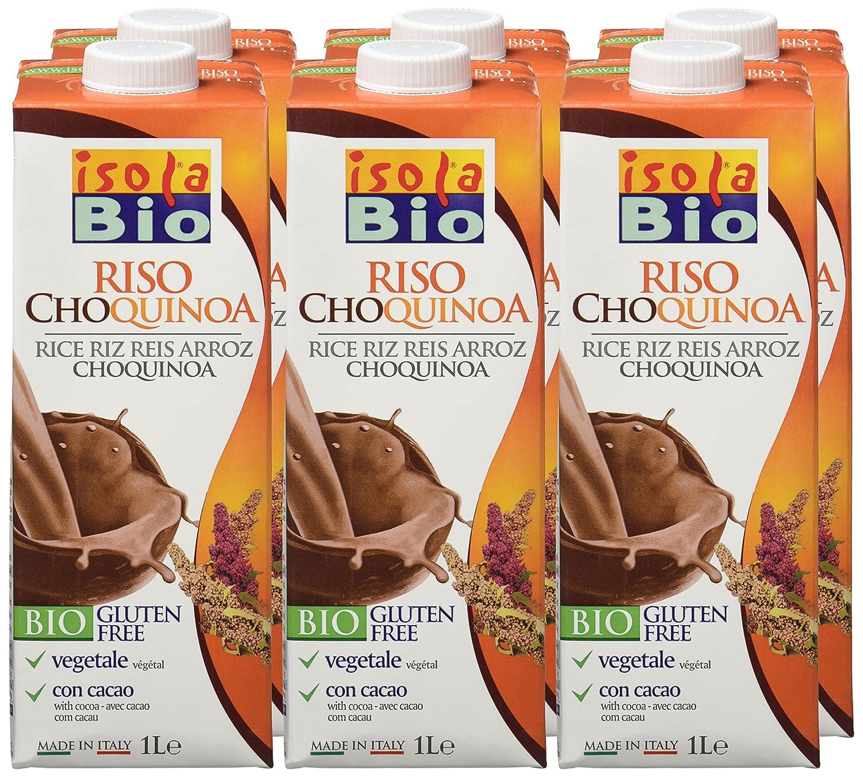 Isola Bio Bebida Vegetal de Choco, Quinoa de Arroz y Cacao - Paquete de 6 x 1000 ml - Total: 6000 ml: Amazon.es: Alimentación y bebidas