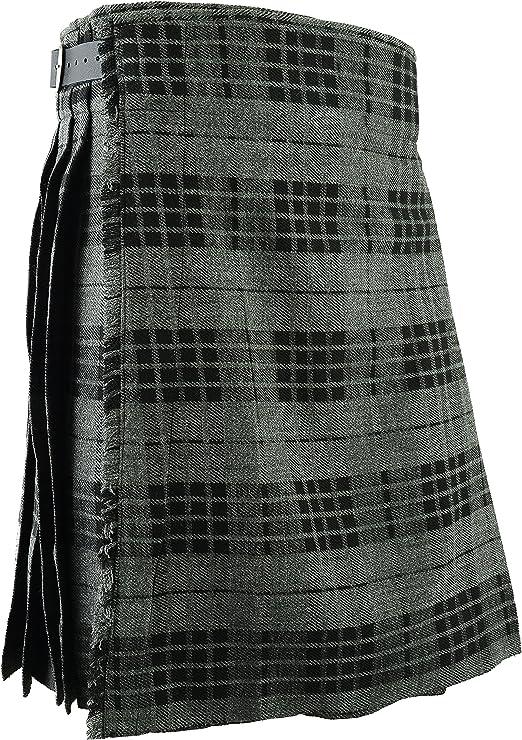 Schottischer Kilt Klassischer Rock Kleid Highland Grau Bekleidung