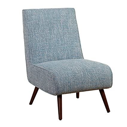 Merveilleux Target Marketing Systems Malone Collection Mid Century Modern Upholstered  Armless Living Room Lounge Chair, Blue