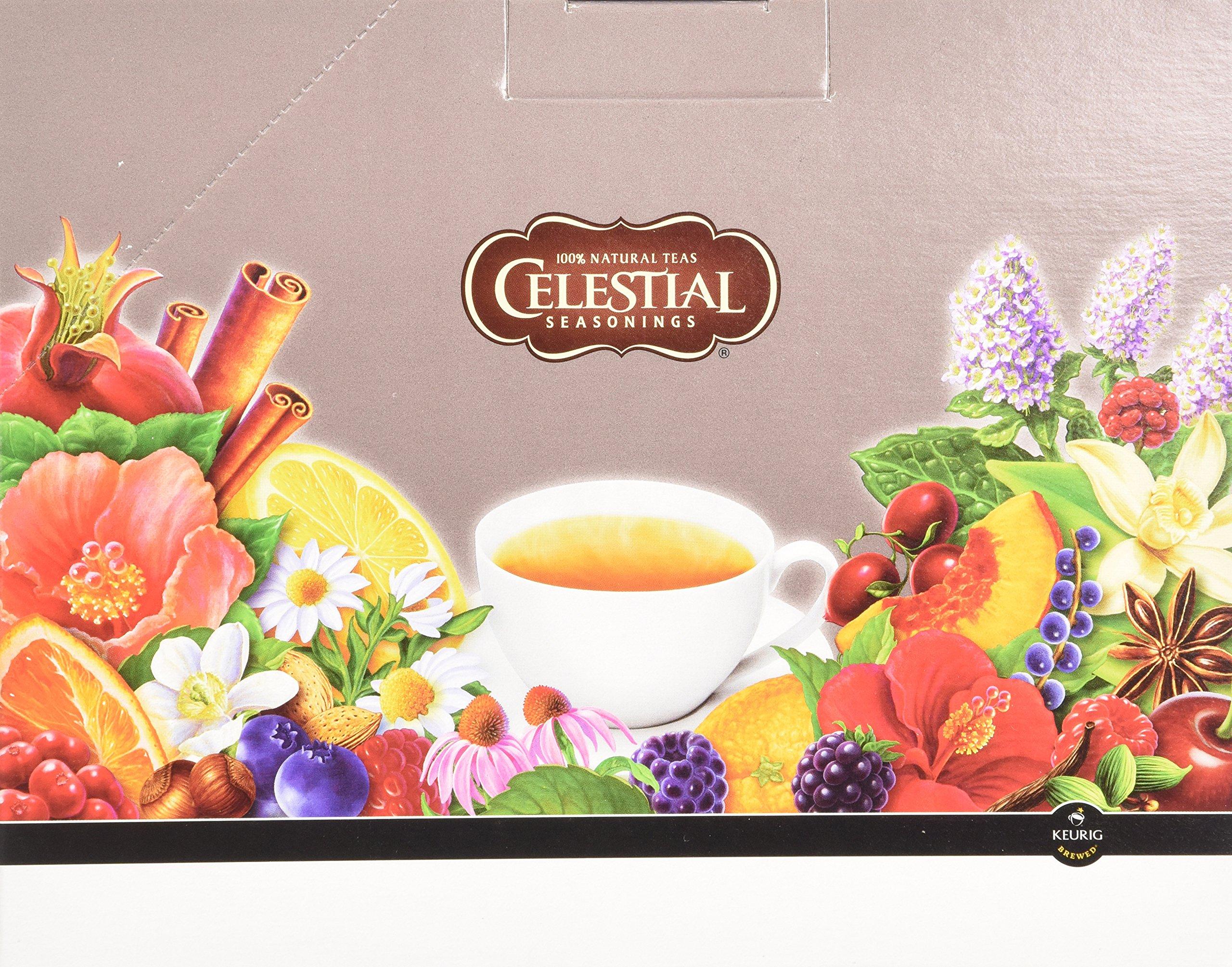 Celestial Seasonings K-Cup for Keurig Brewers, Variety Tea Box (Pack of 88) by Celestial Seasonings