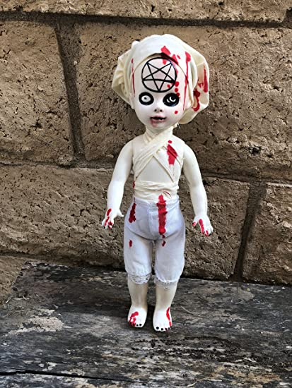 0f75ea522c206 Amazon.com: OOAK Living Dead Doll Satanic Nurse Repaint Creepy ...