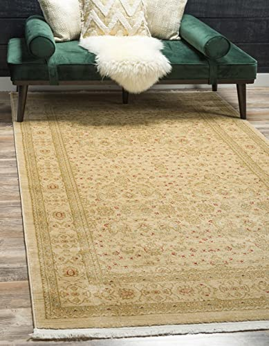 Unique Loom Edinburgh Collection Oriental Traditional French Country Cream Area Rug 5' 0 x 8' 0