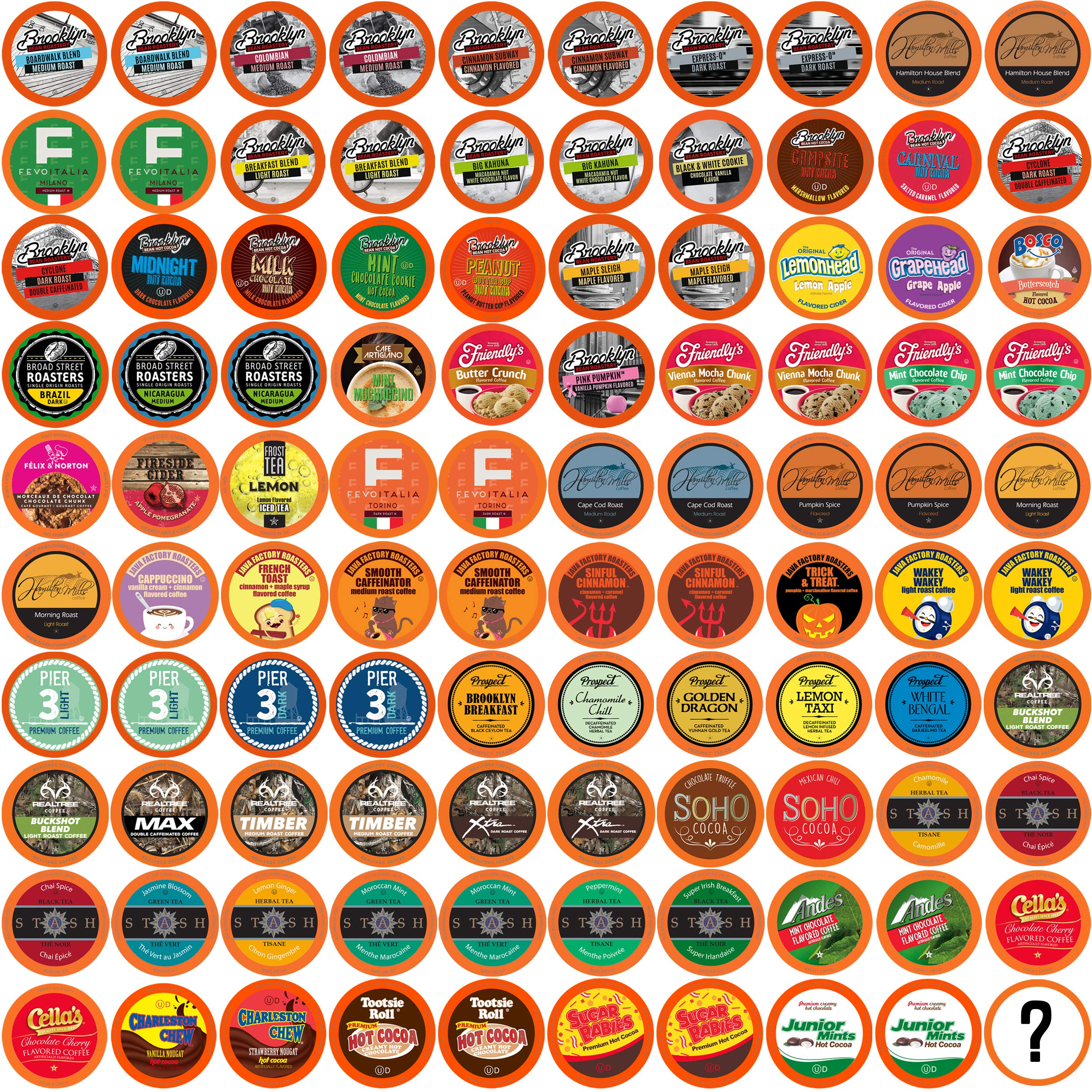 Two Rivers Bit of Everything Single-Cup Sampler Pack for Keurig K-Cup Brewers, 100 Count