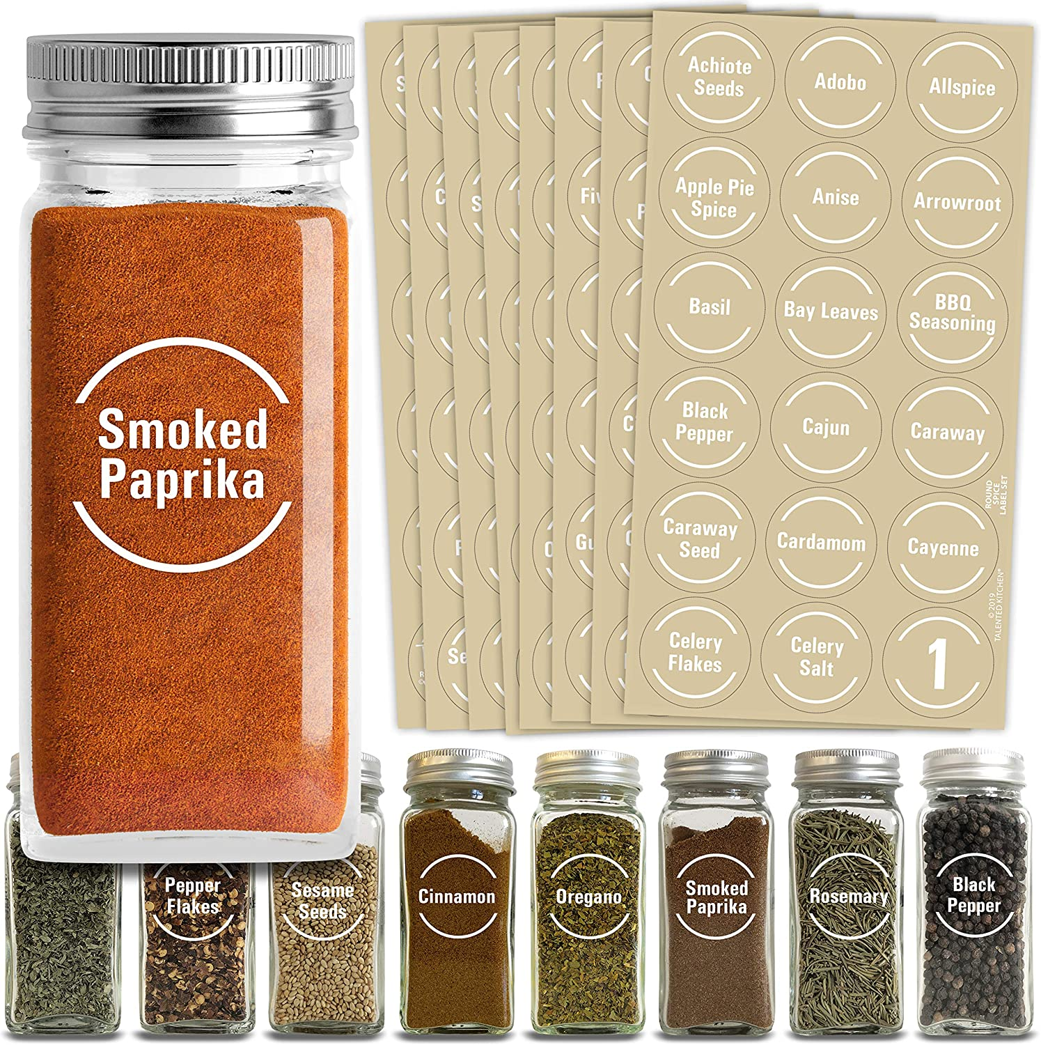 KitchenPantry Accessory Vinyl Wall Art Lettering Spice Labels