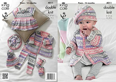 b6bbd05ae322 King Cole 4011 Knitting Pattern Baby Set to knit in King Cole ...