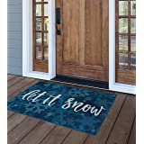 "Brumlow Mills Let It Snow Christmas Kitchen And Entryway Holiday Rug, 1'8"" x 2'10"""