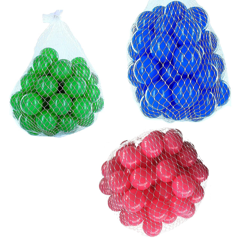 150 Bälle für Bällebad gemischt mix mit pink, blau und grün mybällebad