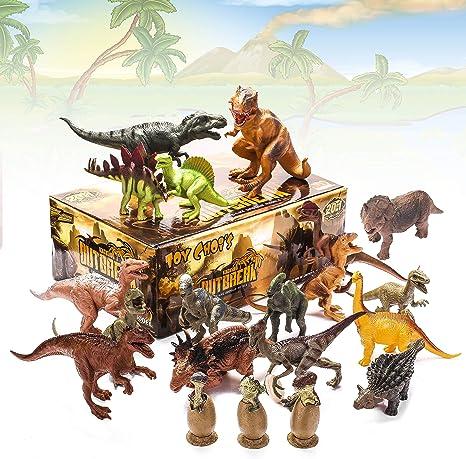 Amazon.com: Juego de 20 paquetes de dinosaurios para niños ...