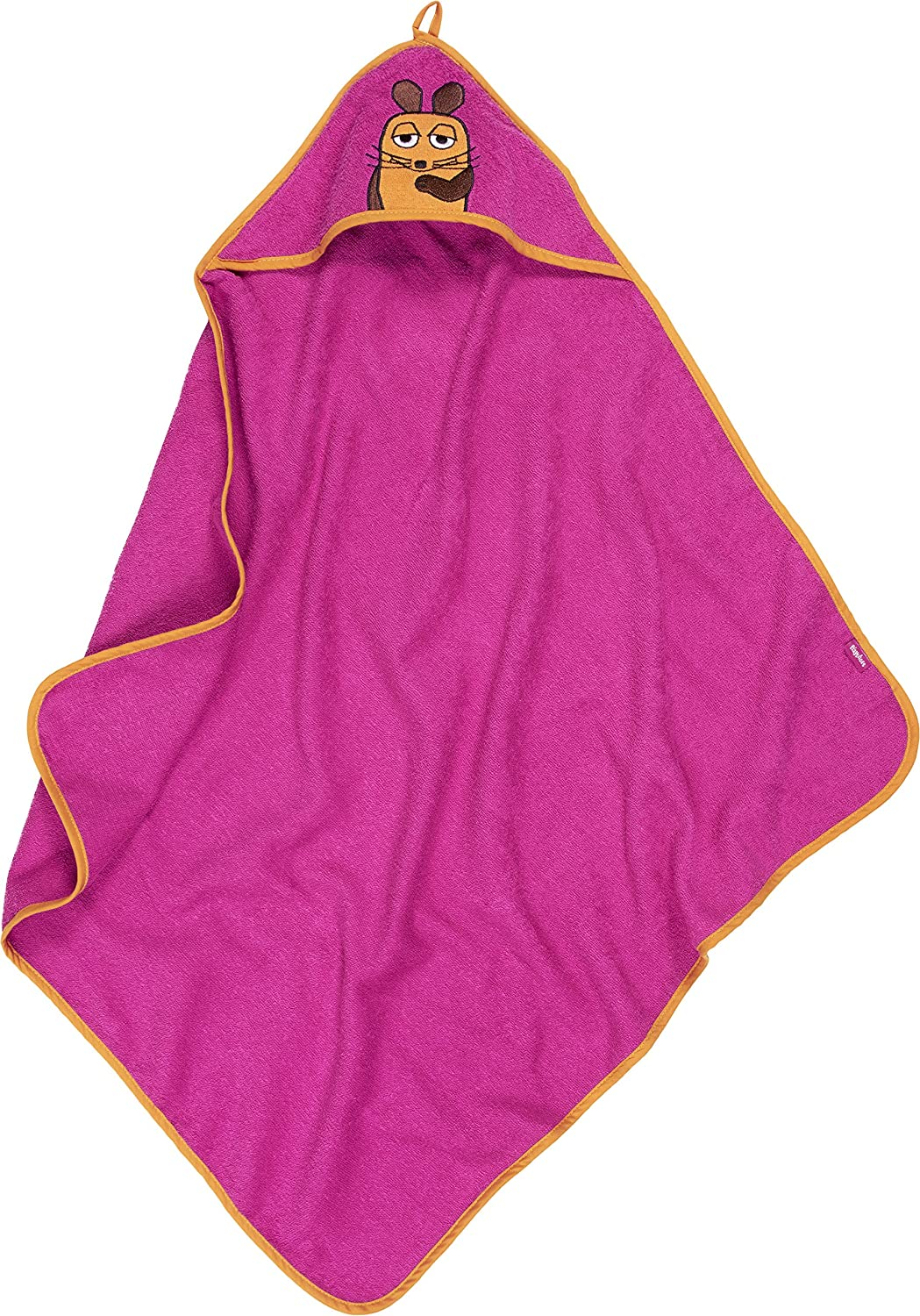Playshoes Girl's Terry Hooded Towel The Mouse Bathrobe Pink One Size 340040