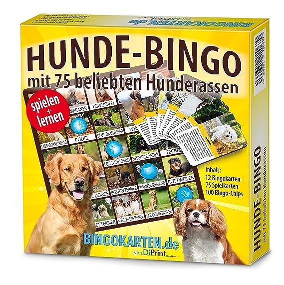 DiPrint Hunde-Bingo Spiel mit 75 Hunderassen