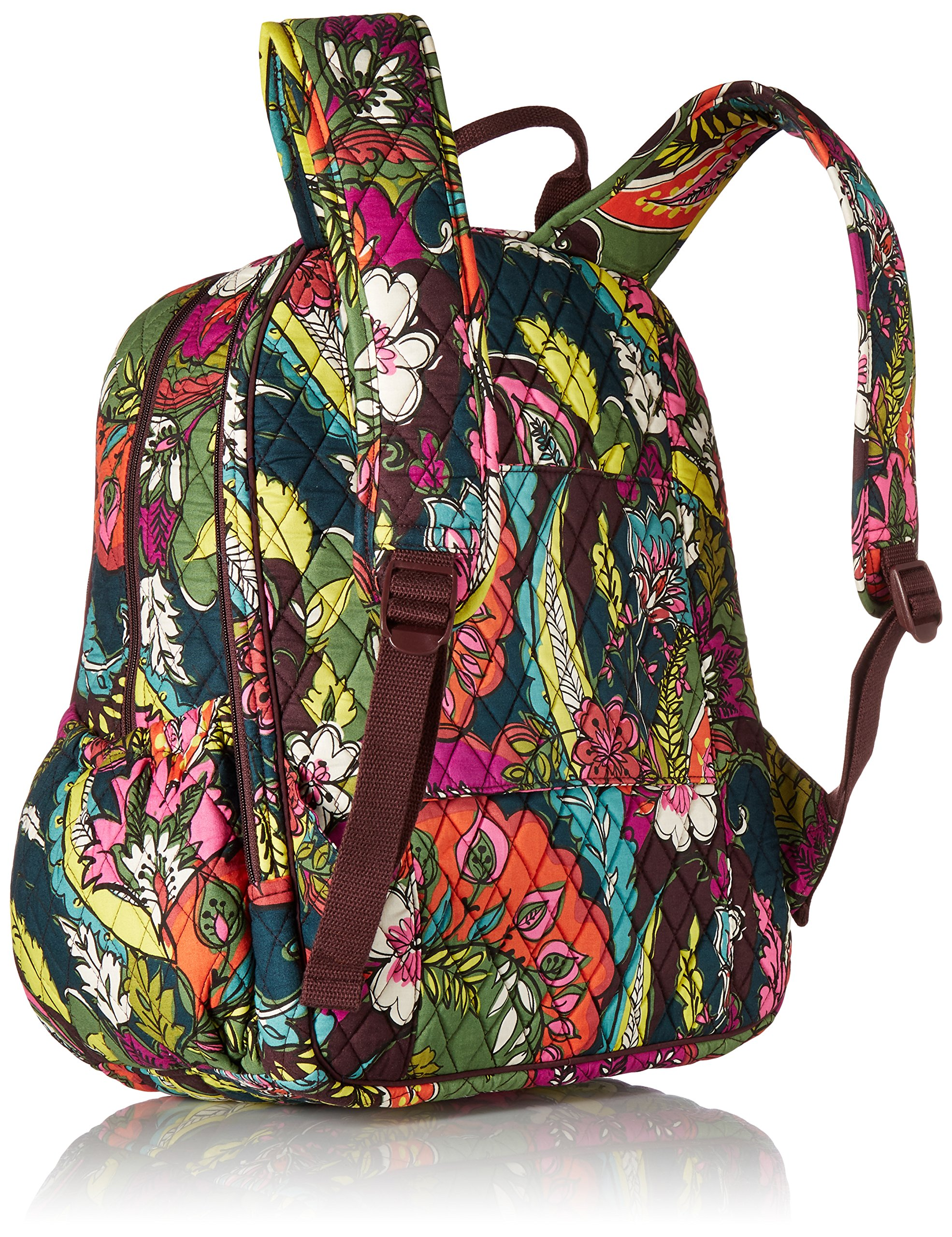 Women's Campus Tech Backpack, Signature Cotton, Autumn Leaves by Vera Bradley (Image #2)