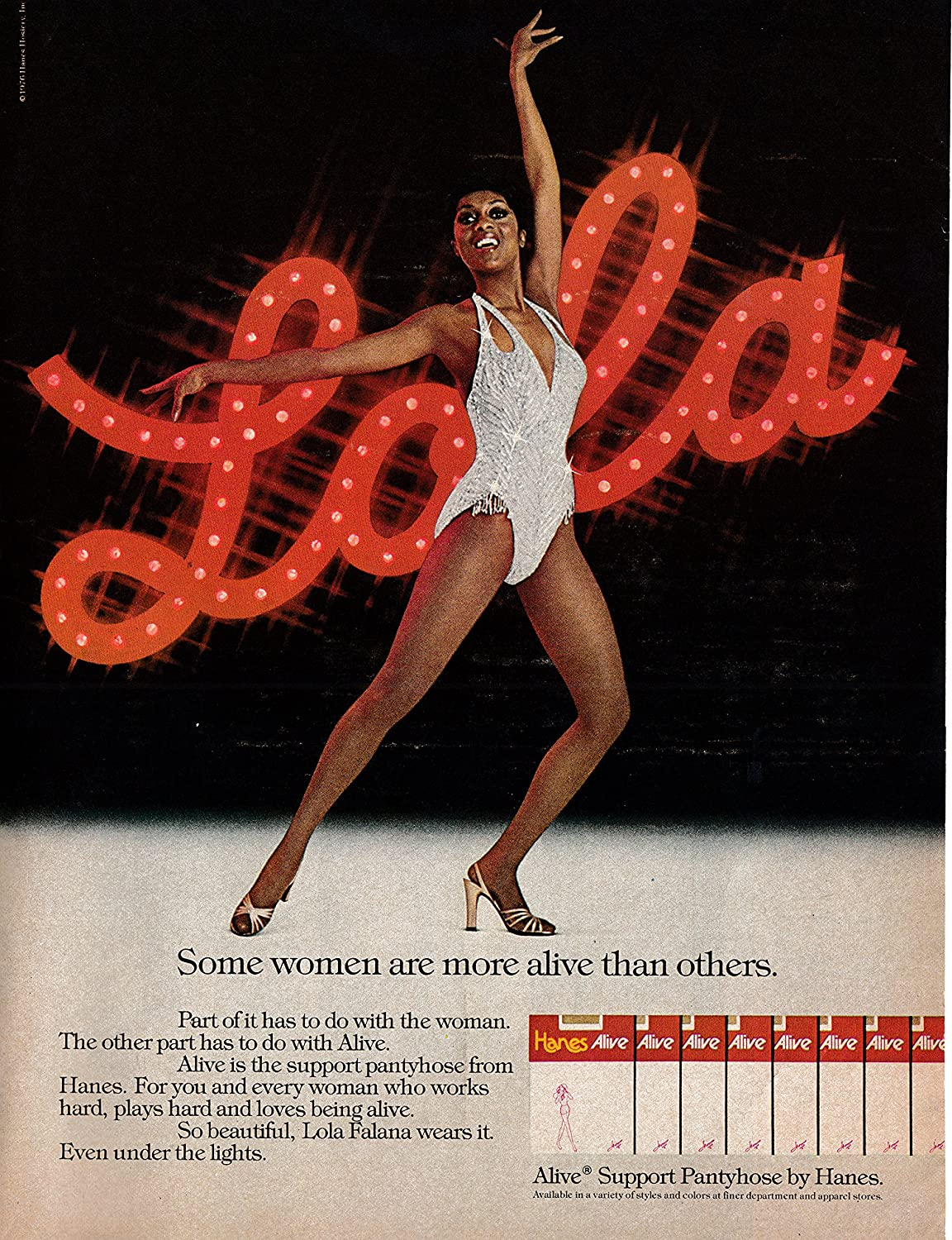 Amazon.com : 1977 Lola Falana-Singer Dancer Actress-Hanes Pantyhose-Original  13 * 10 Magazine Ad : Everything Else