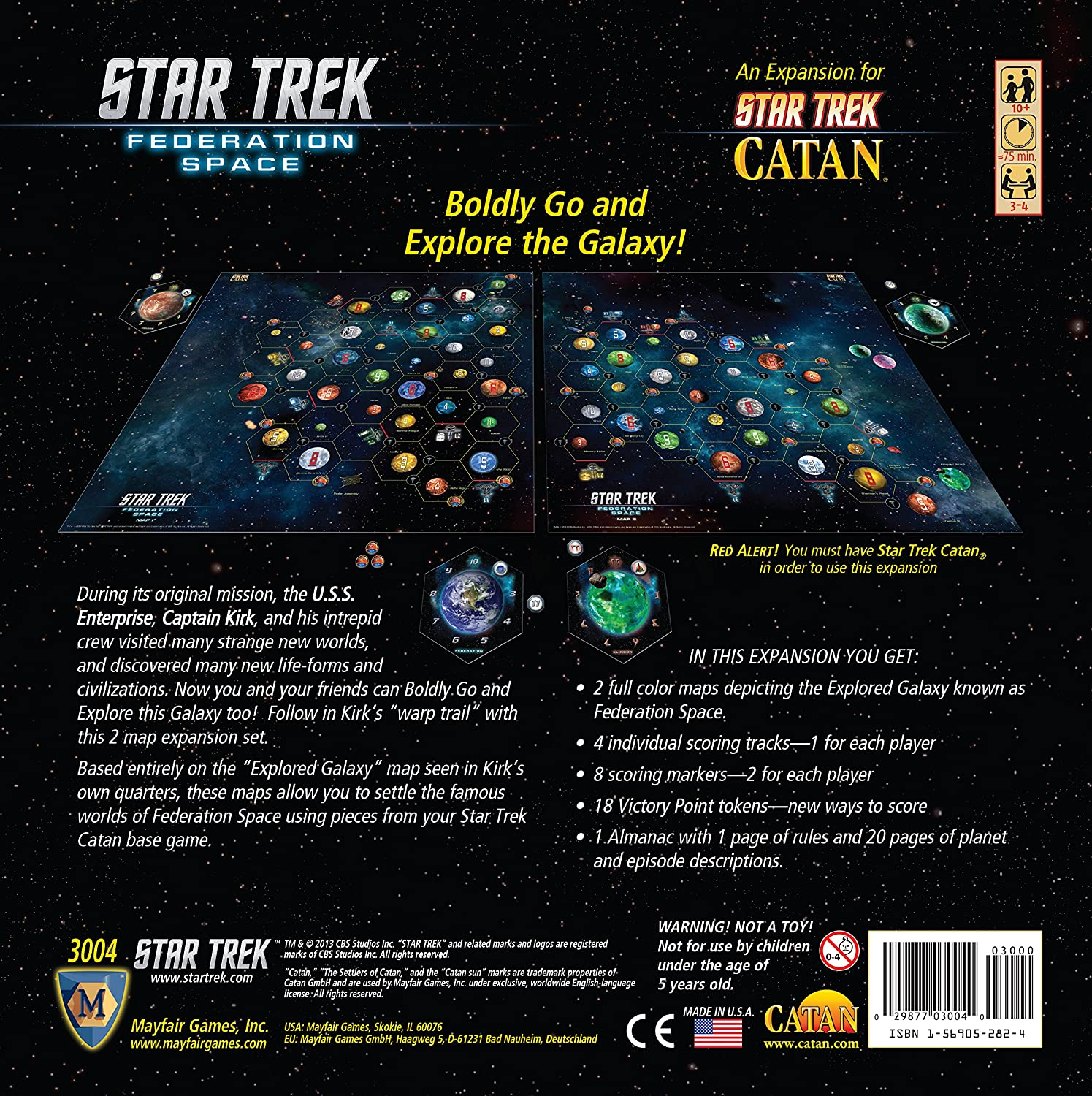 Amazoncom Star Trek Federation Space A Two Map Expansion for