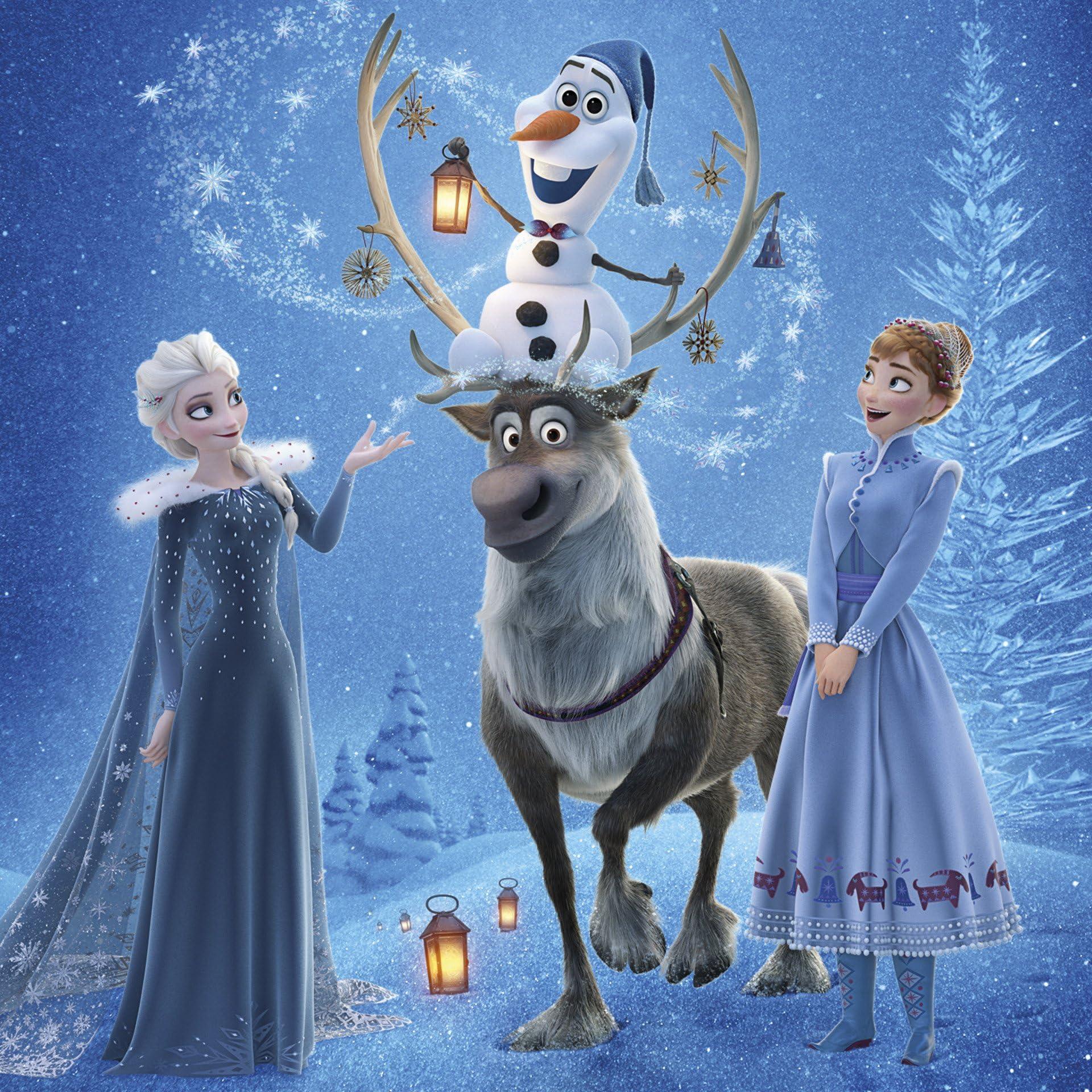 ディズニー Ipad壁紙 アナと雪の女王 エルサ アナ オラフ スヴェン
