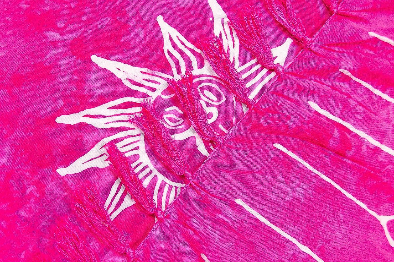 175x115cm und 225x115cm XXL /Übergr/ö/ße Hippie Sommer Kleid Sauna Hamam Lunghi Bikini Cover-up Strandkleid Sarong Strandtuch mit Schnalle MANUMAR Damen Pareo blickdicht Sommer Handtuch 155x115cm