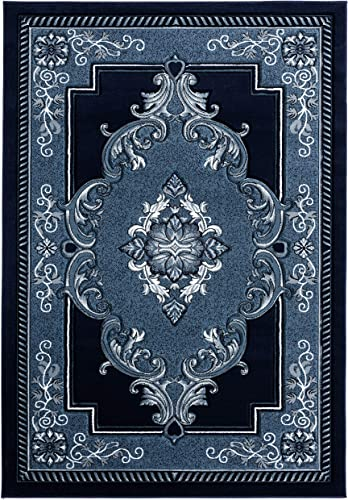 United Weavers of America Bristol Fallon Navy Area Rug