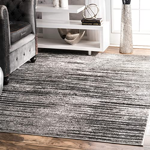 nuLOOM Elsa Faded Area Rug, 8 x 10 , Grey