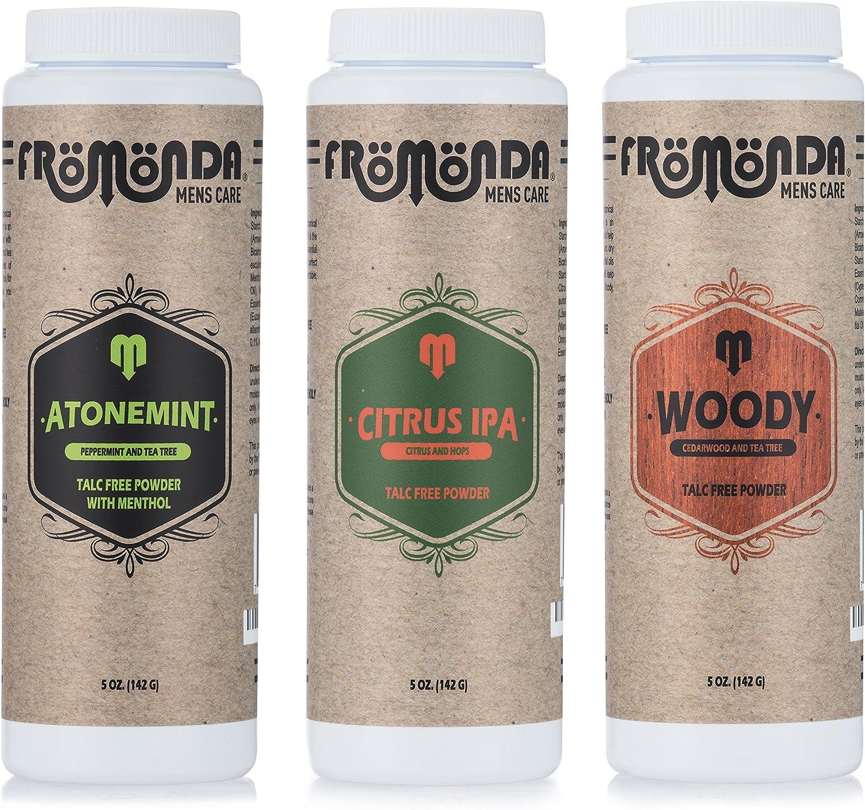 Fromonda Body Powder Multi-Scent 5 Oz 3-Pack