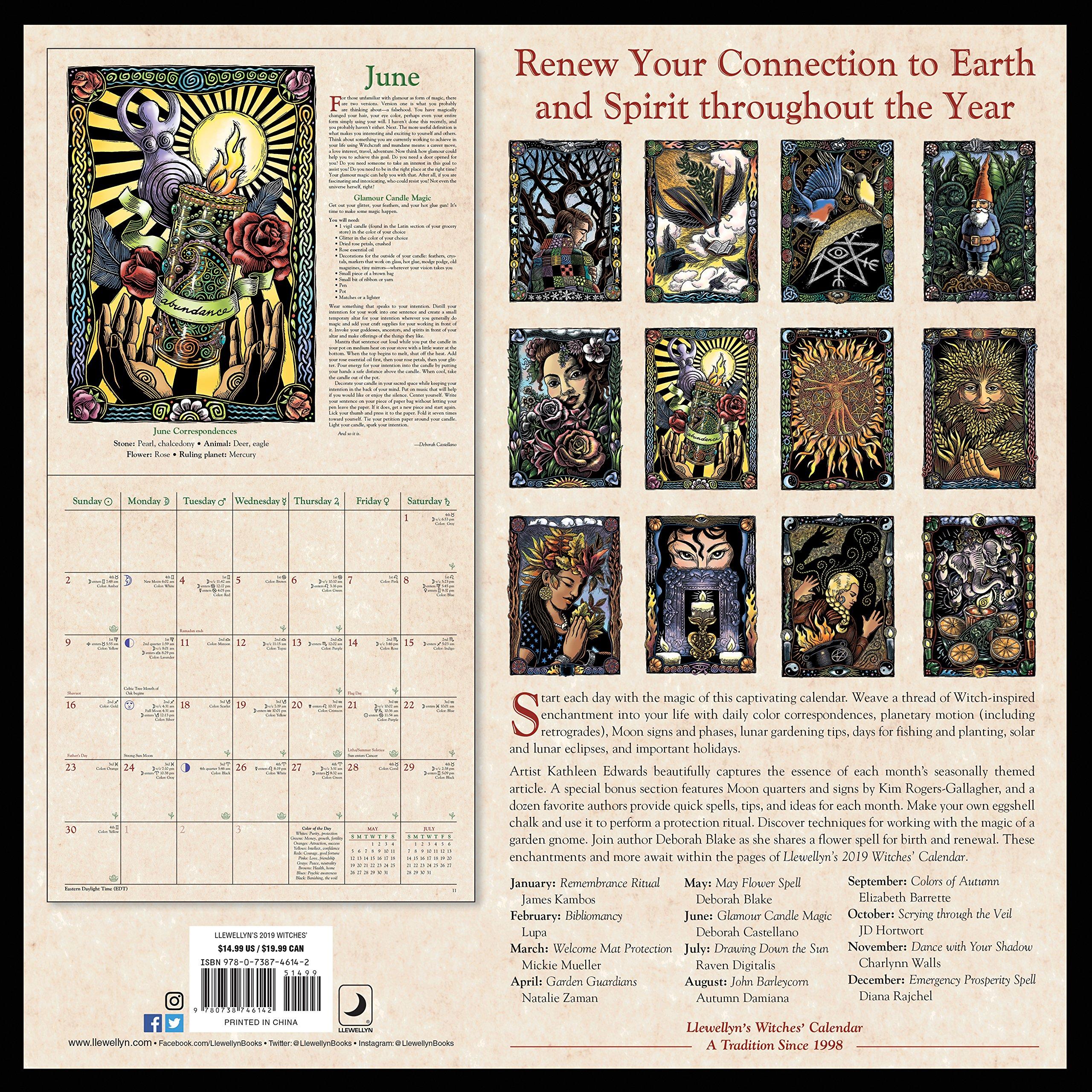 Llewellyns 2019 Witches Calendar (Calendars 2019): Amazon ...