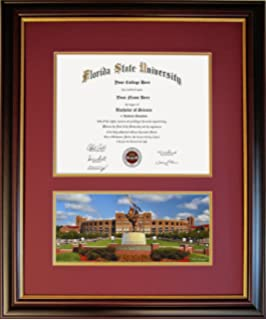 diploma frame for florida state university unconquered