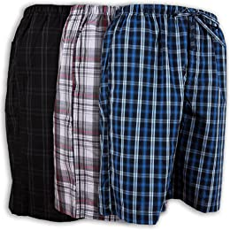 Andrew Scott Men's 3 Pack Soft Poplin Woven Pajama & Sleep Jam Cargo Short Lounge Pants
