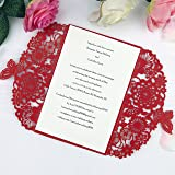 Amazon Com Krismile 12 Red Elegant Handmade Laser Cut Chinese