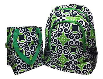 3cfc5c3573e6 Image Unavailable. Image not available for. Color  Kids Full Size Backpack  with Side Mesh Pockets and Insulated Lunch Bag Box Carrier ...