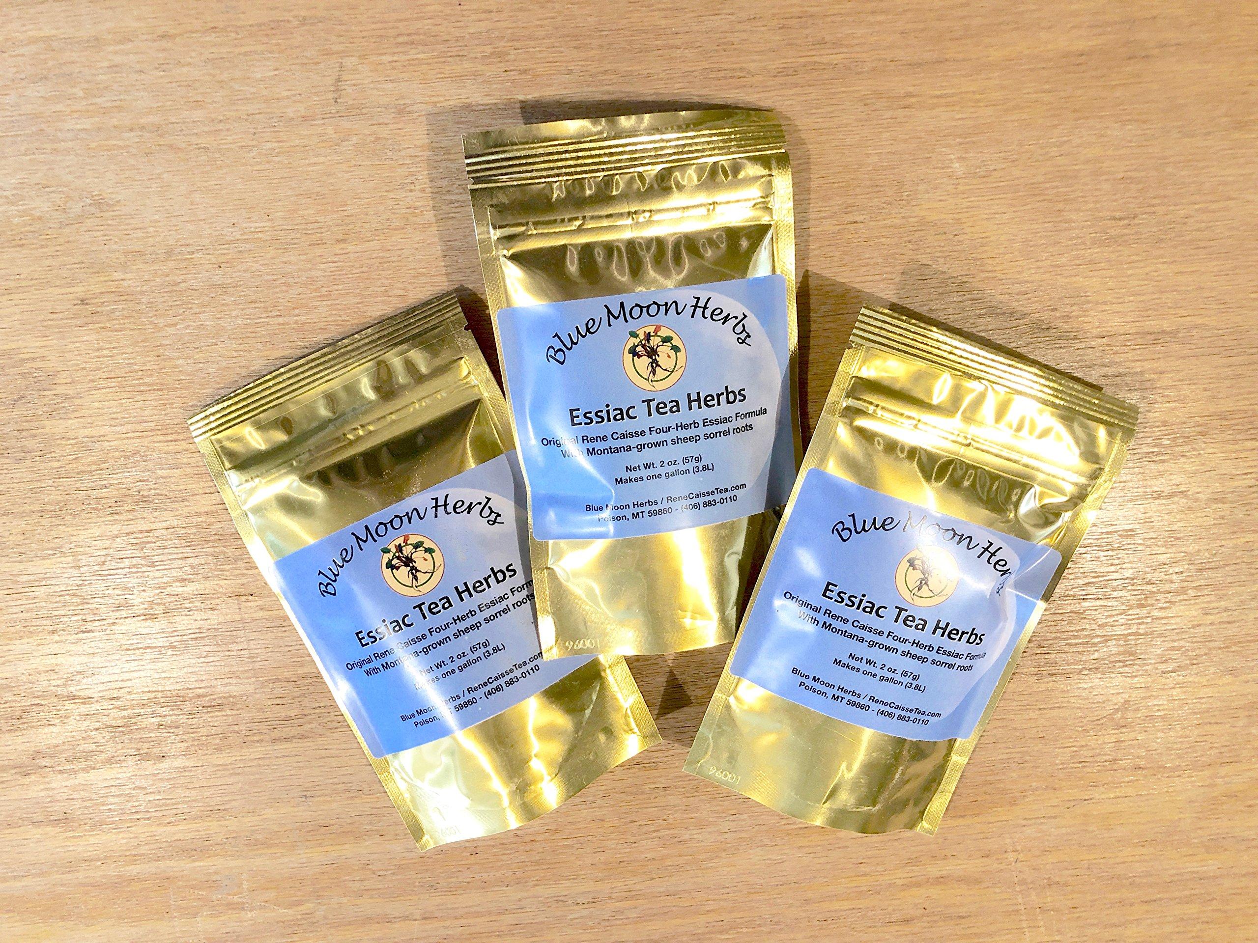 Three-Pack 2 oz. Essiac Tea Herbs Organic with Sheep Sorrel Content 25% Root - 6 oz. Total