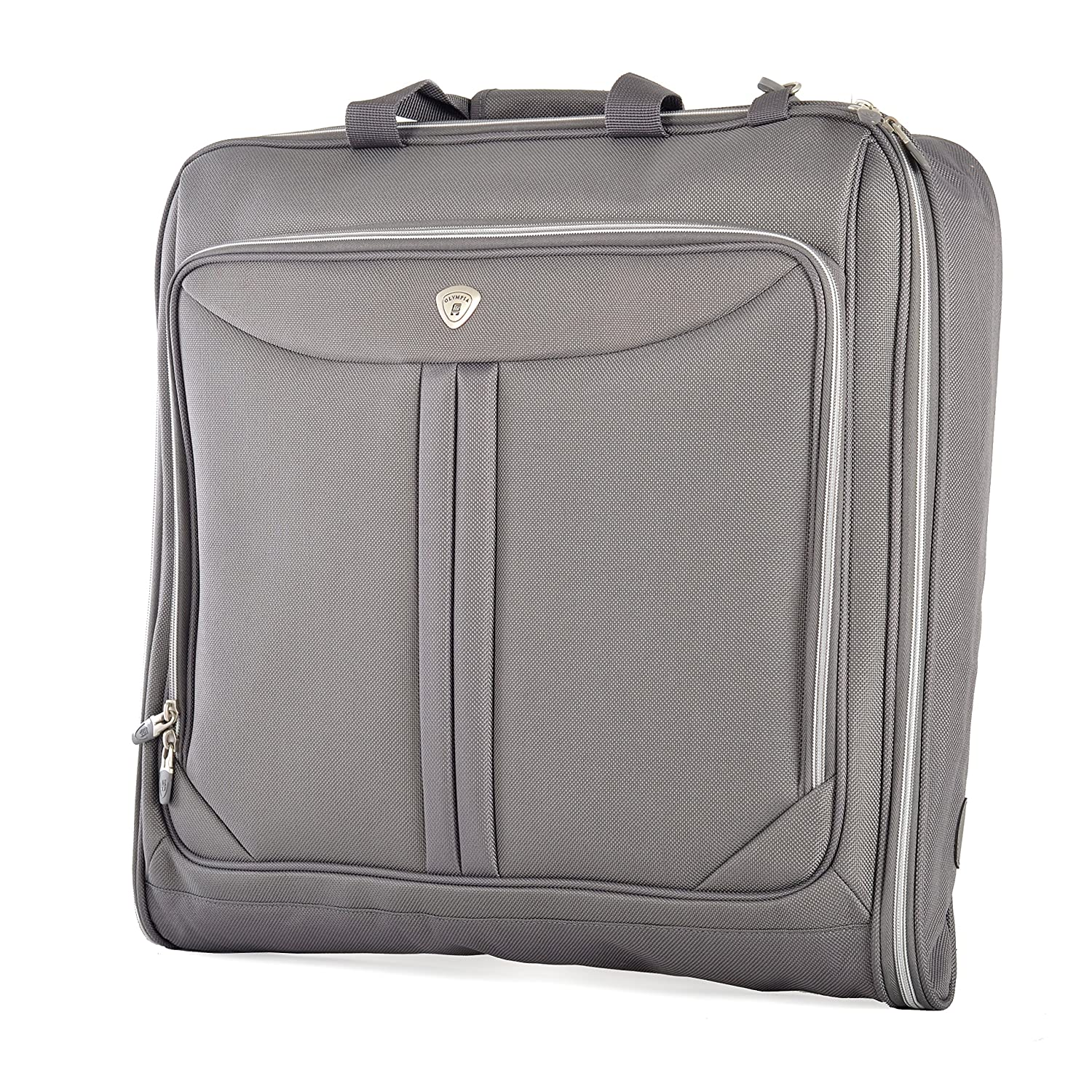 Olympia Deluxe Garment Bag, Black, One Size G-7740-Black-One Size