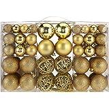 100 Weihnachtskugeln Gold glänzend glitzernd matt Christbaumschmuck bis Ø 6 cm Baumschmuck Weihnachten Deko Anhänger