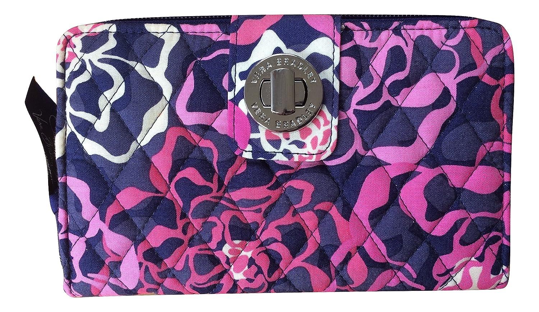 Vera BradleyレディースTurn Lock Wallet B01JVFKWDY Katalina Pink With Navy Interiors Katalina Pink With Navy Interiors