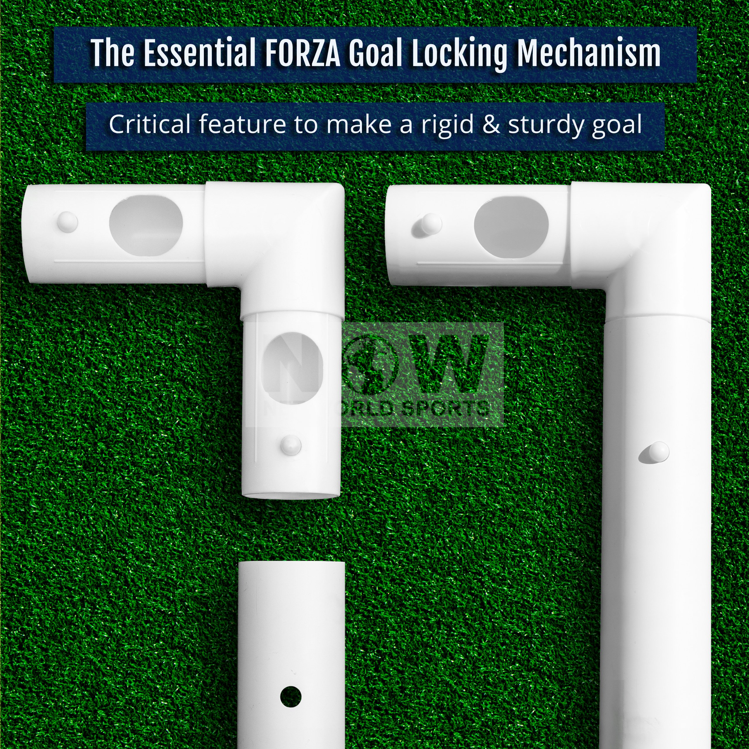 FORZA ''Match Standard'' 12' x 6' Professional Soccer Goal and Net - The Best Goal That Money Can Buy! (12 x 6 FORZA Goal & Carry Bag) by Net World Sports (Image #3)