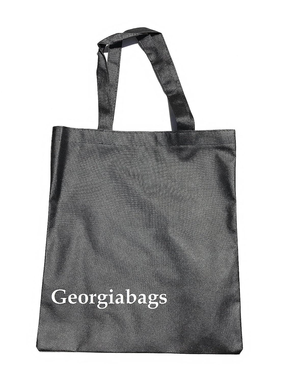 バルクDeal 。Buy More、保存More。50パックTotes、プロモーション安いトートバッグ、不織布標準サイズバッグ ブラック B071WP98Z1  ブラック