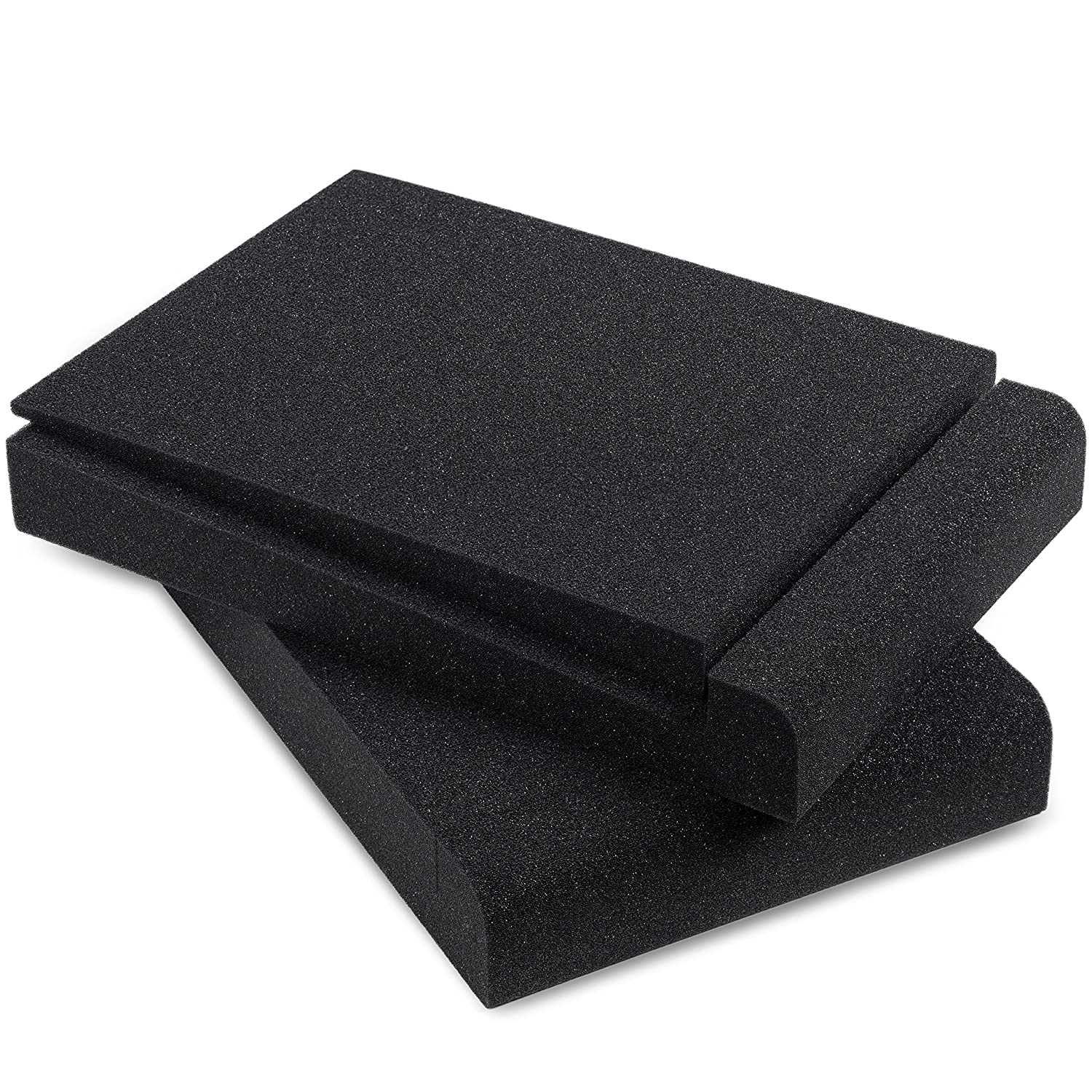 Sound Addicted - Studio Monitor Isolation Pads for 5'' Inch Monitors, Pair of Two High Density Acoustic Foam which Fits most Speaker Stands 4336353363