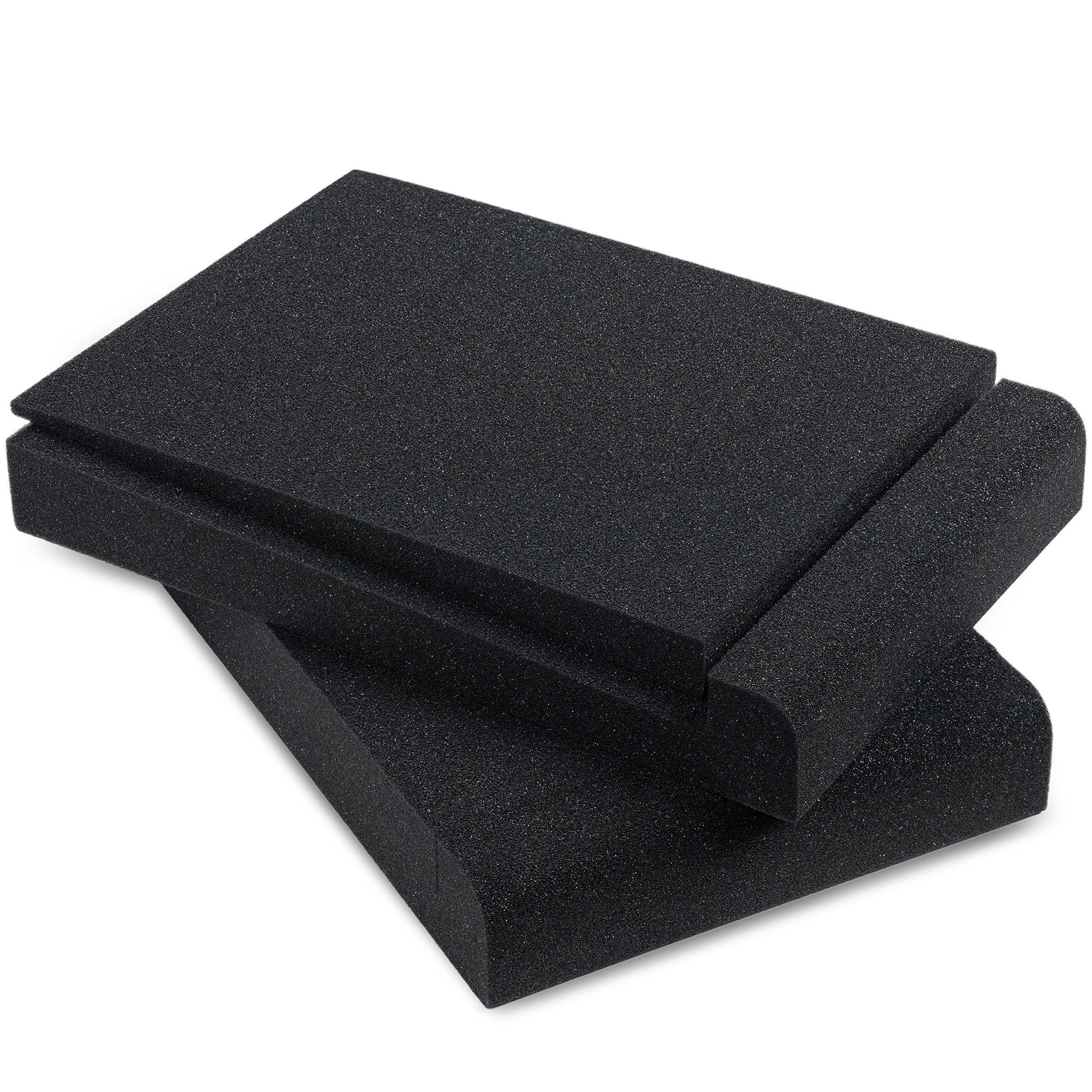 Sound Addicted - Studio Monitor Isolation Pads for 5'' Inch Monitors, Pair of Two High Density Acoustic Foam which Fits most Speaker Stands | SMPad 5 by Sound Addicted (Image #1)