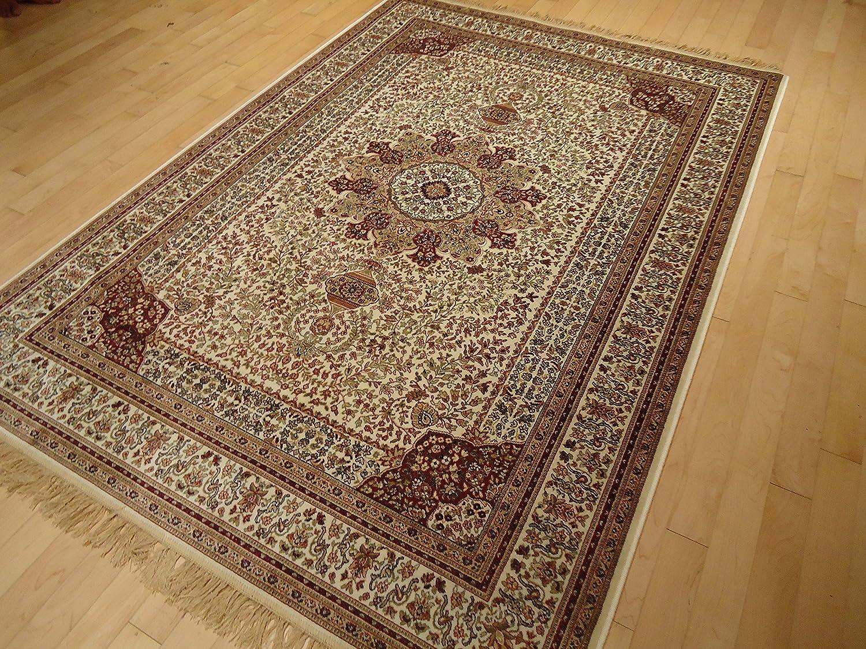 Amazon Com Silk Ivory Rug Persian Style Tabriz Rug 5x8 Living Room