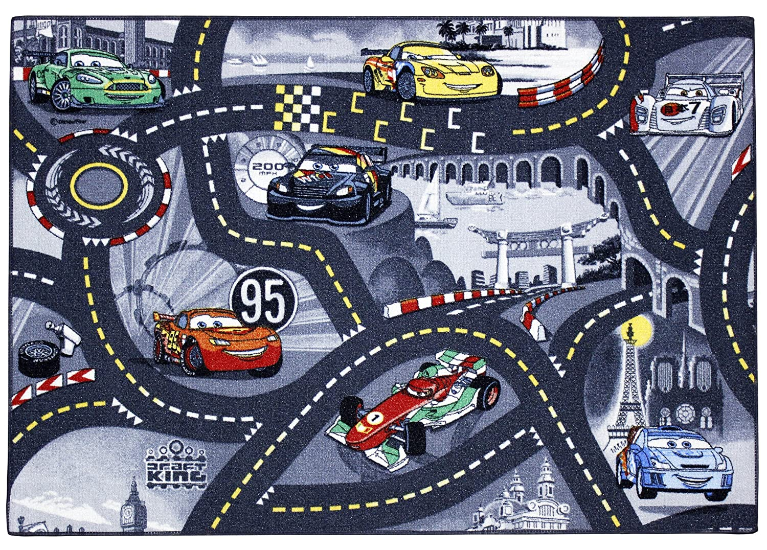 Disney Associated Weavers 95 x 133 cm Cars Street World Play Mat ASSOCIATED WEAVERS EUROPE NV 0309010