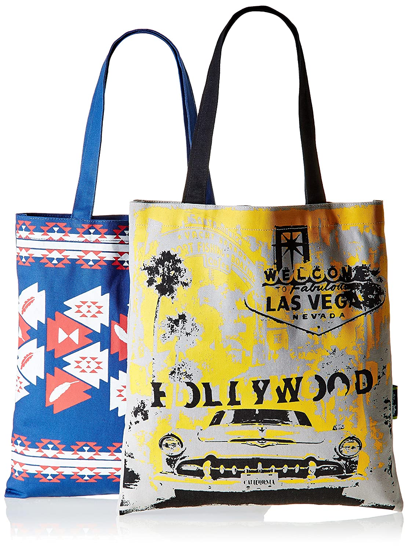 Kanvas Katha Women's ComboTote Bag (Multi-Colour) (KKBSAMZAUG004-KKBSAMZAUG010)