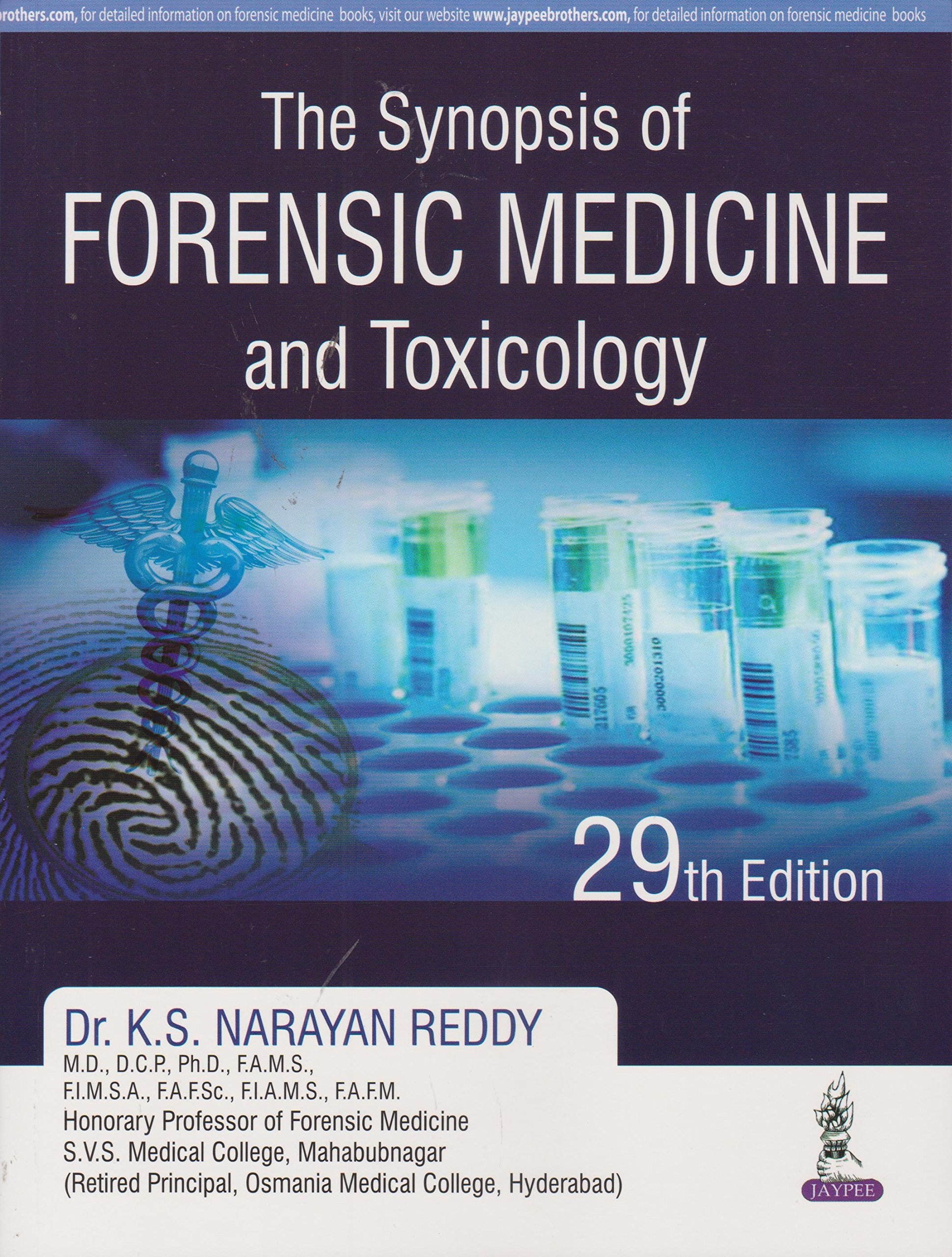 Forensic Medicine And Toxicology Book