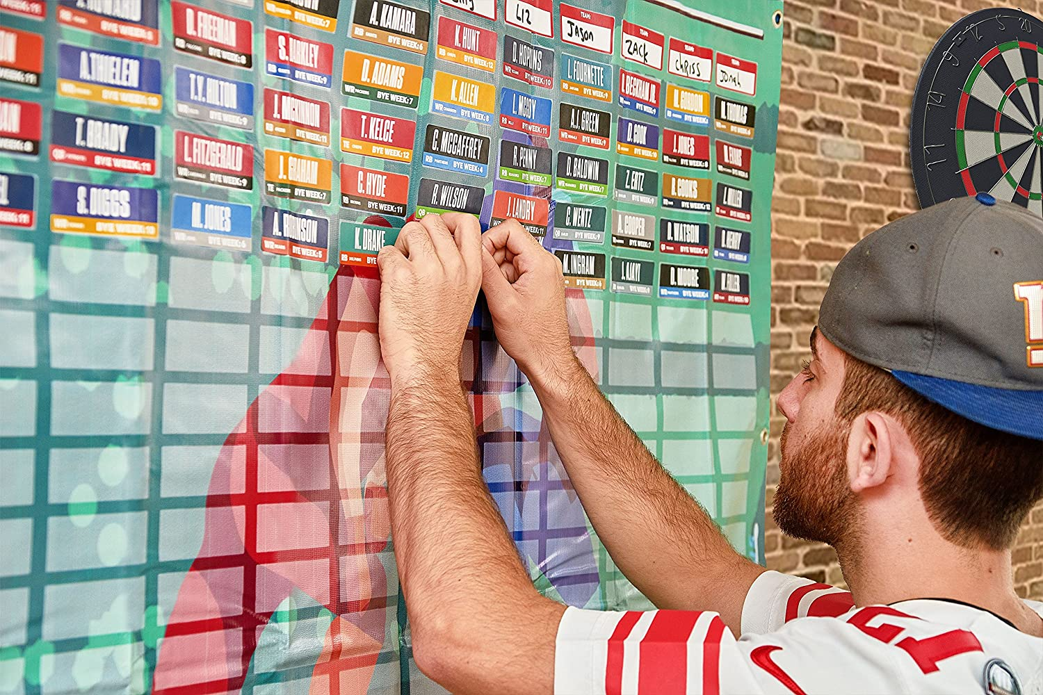 2020 Fantasy Football Draft Board Kit with Over 400 Player Labels Alphabetized by Position
