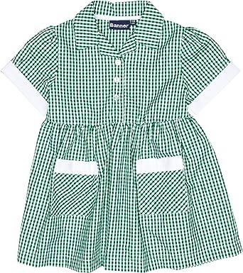 Blue Max Banner Girls Ayr Short Sleeve Gingham School Dress