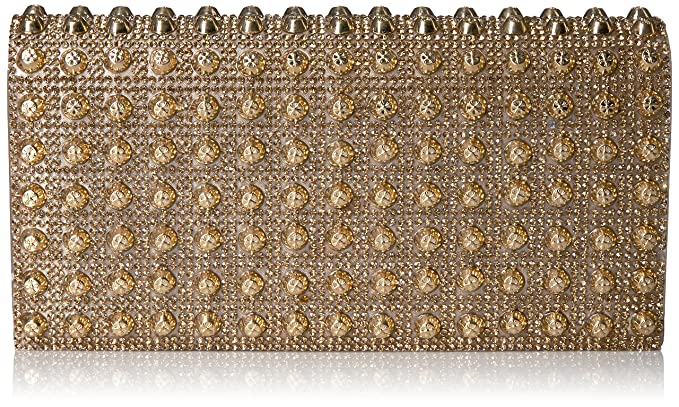 b7a4bb480f Jessica McClintock Chloe Studded Flap Clutch, Champagne: Handbags:  Amazon.com