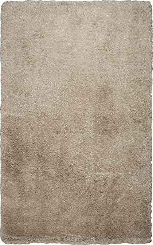Rizzy Home Commons Collection Polyester Area Rug, 8 x 10 , Champagne Gray Rust Blue Solid