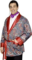 Smiffy's Men's Paisley Design Smoking Jacket