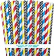 Outside the Box Papers Superhero Theme Chevron and Striped Paper Straws 7.75 Inches 100 Pack Red, Blue, Black, Yellow, White