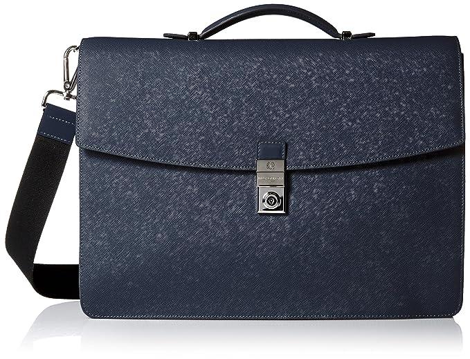 03a456bf8f0a Amazon.com: Bruno Magli Men's Neoclassico Briefcase, Navy, One Size ...