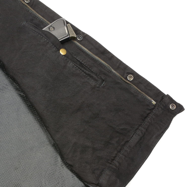 Club Vest Mens Concealed Snap Denim with Hidden Zipper Black 4X CV3003LT-BLACK-4X