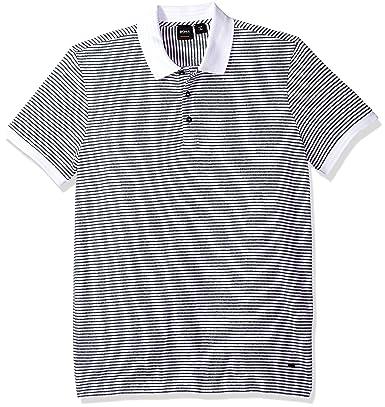 BOSS Hugo Hombre 50381633 Manga Corta Camisa Polo - Blanco - Small ...