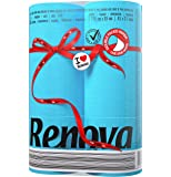 Renova Red Label Toilet Paper Blue- 6 rolls of paper
