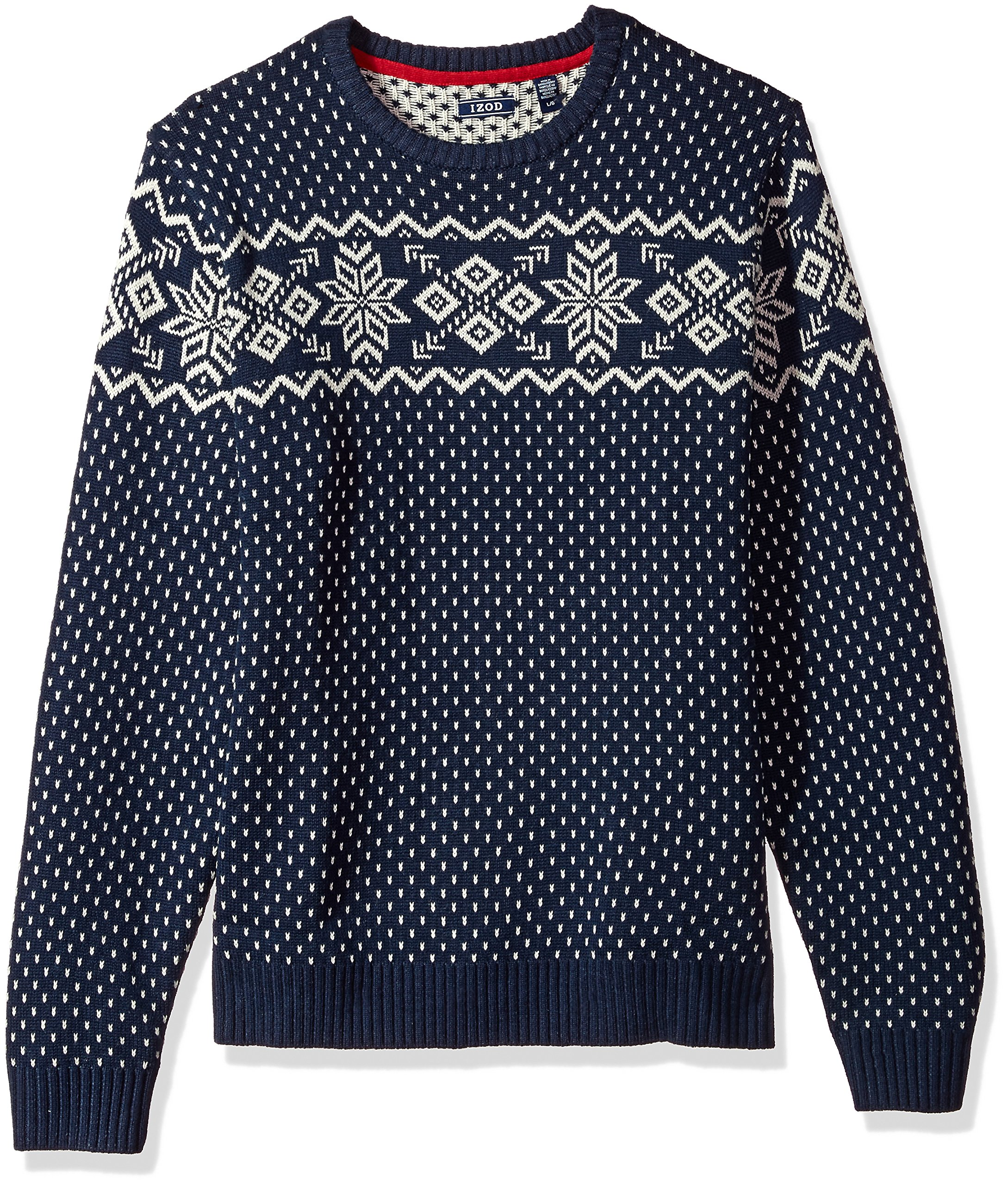 IZOD Men's Fine Gauge Crew Sweater, Peacoat, Large